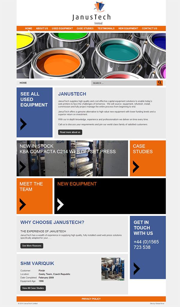 Global River JanusTech website