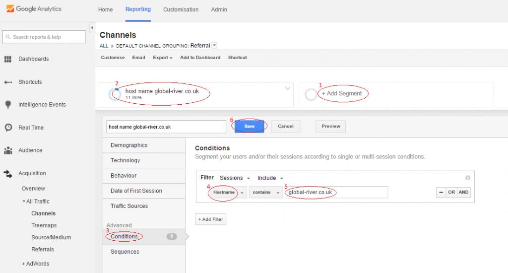 Exclude Google Analytics Spam