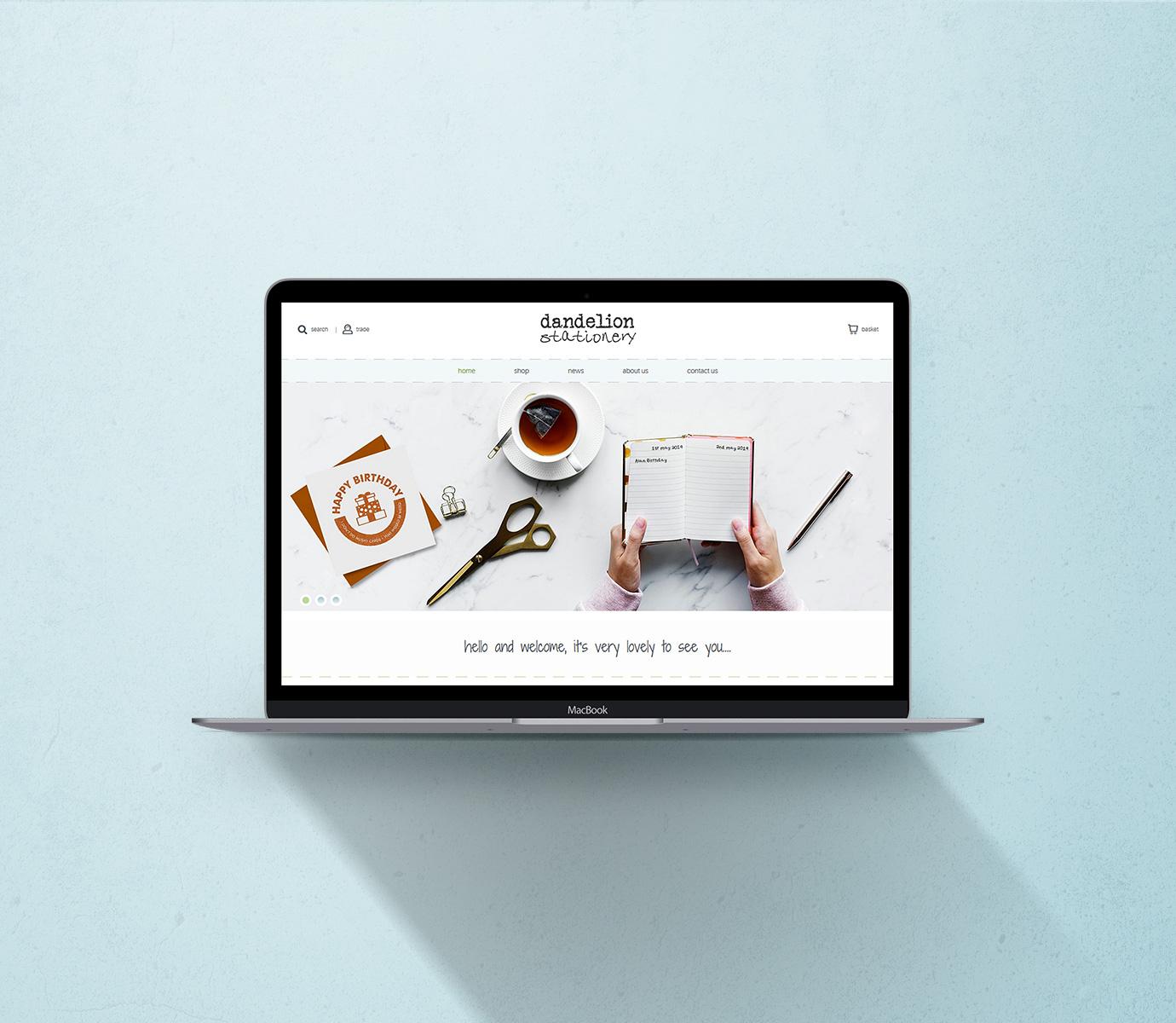 greeting card website design